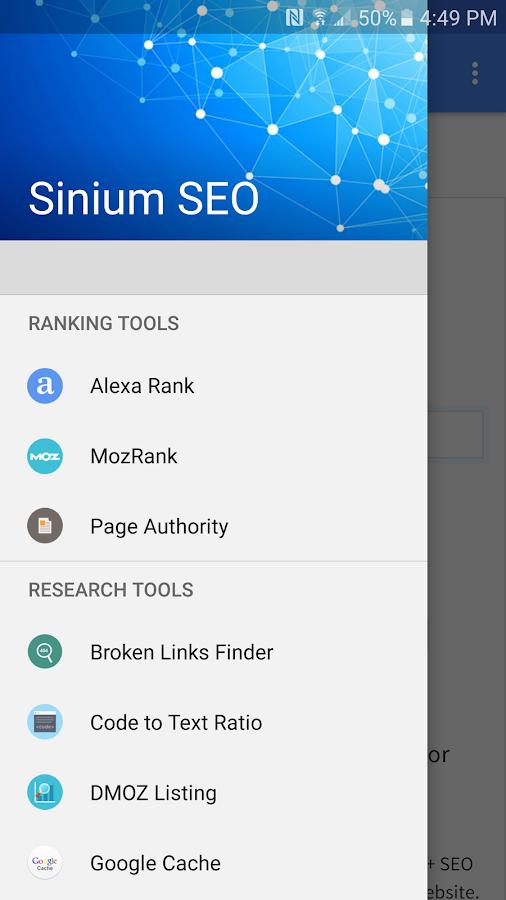 Sinium SEO App for Android